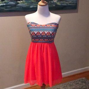 Boutique strapless dress
